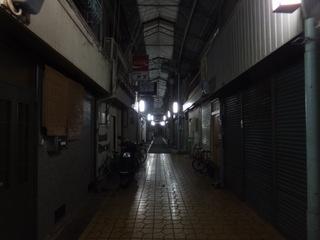 「中津商店街」というすごく古い商店街の中心