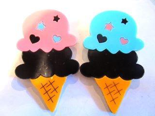 アイスクリーム、色違い、