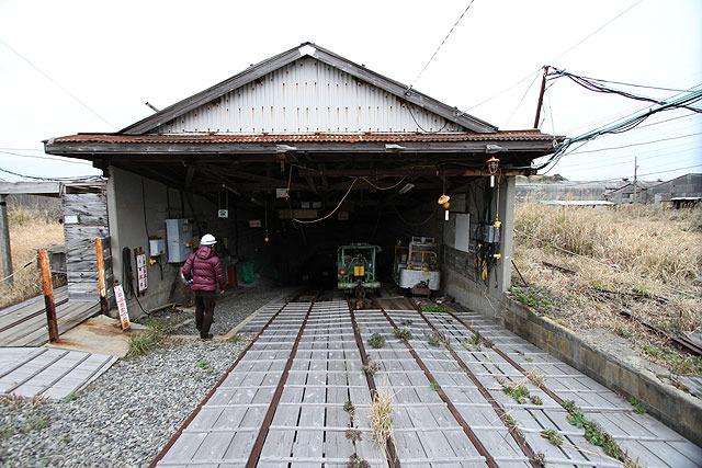 炭鉱入り口。