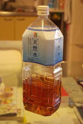 それはそうと、ペットボトルに移したウイスキーは、恐ろしいほど麦茶に見える。