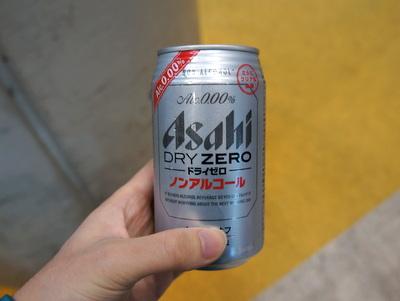ノンアルコールのビールも貰った。走らないので普通のビールでも良いですよ。