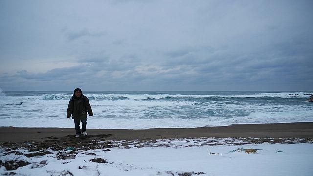 曽々木海岸に到着(さらに寒い!)