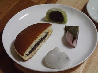 追加で各種和菓子も。