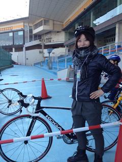 自転車にKOGAと! 前のめりで試乗