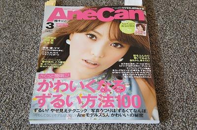 平成25年3月号の「AneCam」(小学館刊)、書店で見かけて気になった。