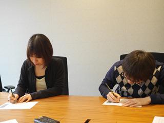 参加したのはデイリーポータルZ編集部より古賀(写真左)、石川(右)