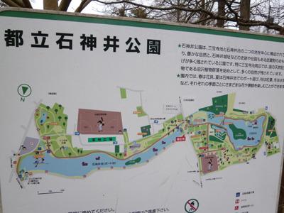 広々した池に沿って広がる公園。
