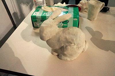 このシステムを使って作った粘土細工