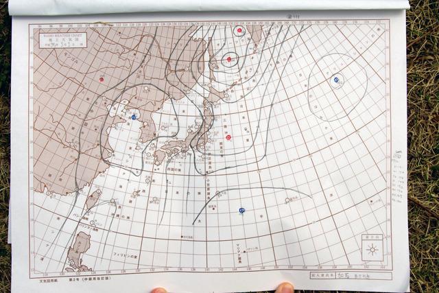 こんな感じかな。3月23日朝6時の天気図。