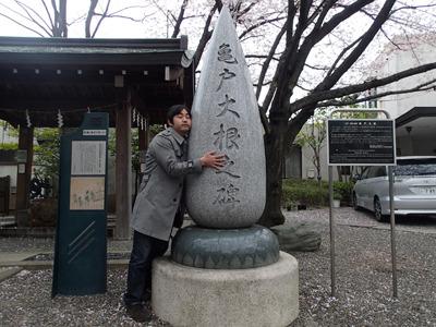 その後、亀戸大根発祥の地である香取神社にも立ち寄ったが。手掛かりナシ