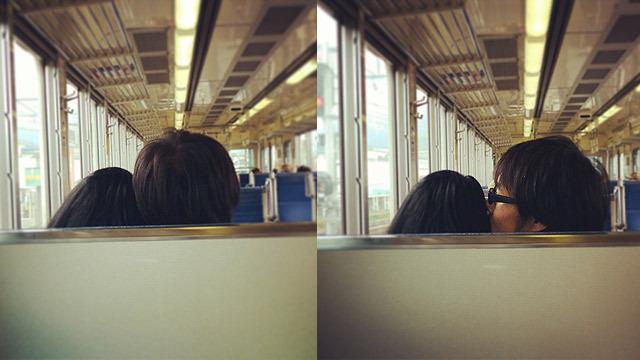 休日に彼女と一緒に電車旅に出かけました!