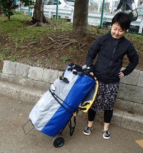 女子的にはカートに乗せて持ち運ぶスタイルを確立