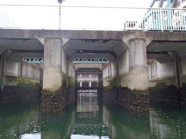 仙台堀川と隅田川の間にある清澄排水機場。なんだかやたらかっこいい。