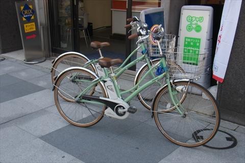 八重洲駅前でレンタサイクルを借りた