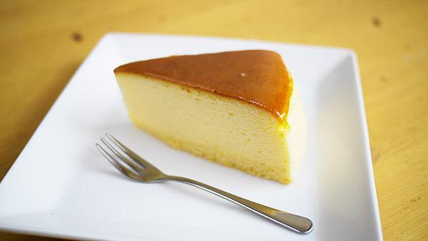 チーズケーキに、