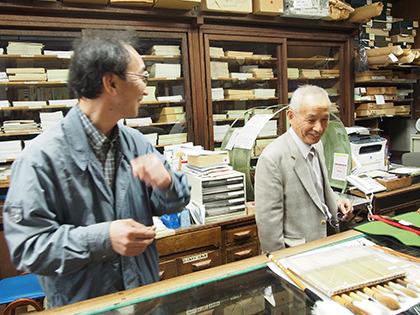 清雅堂の池田さん(左)と社長の廣瀬さん(右)