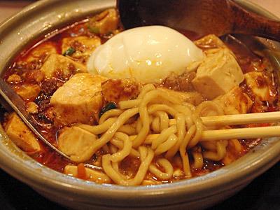麻婆カリー麺。印象の強い味なのだが、言葉にならない。