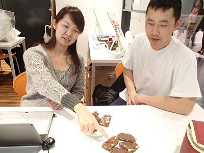 甘い物があまり得意でない橋田さんは「甘い物に甘い物を合わせるなんてありえない!」と言って試食はパス。変なもの食べさせてしまいスイマセン。