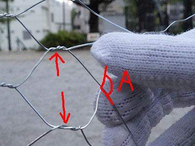 Aの角度を大きく、かつ矢印の部分を左手で押し広げながらねじねじすると、きれいにできる