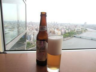 私はノンアルコールビールで乾杯。