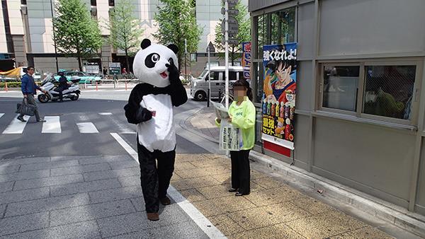 パンダ、もらえず。後ろのドラゴンボールも慰めてくれているようだ。