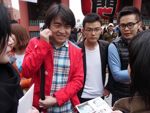 日本語を勉強中の3人組