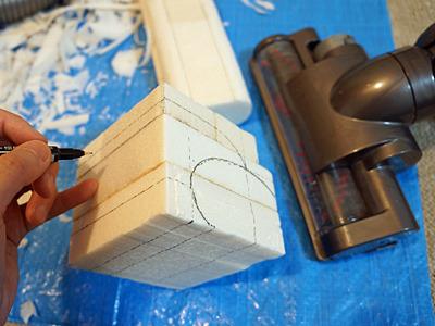 形が複雑な部分はなるべく簡略化。