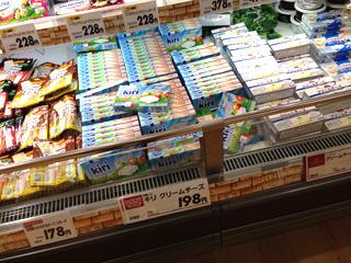 あとクリームチーズがうちの近所よりずいぶん安かったがこれは名古屋とは関係ない
