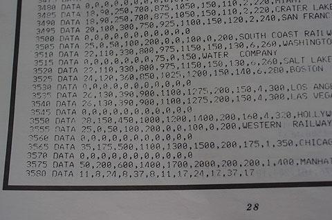 この「モノポリー」は全部で3580行。