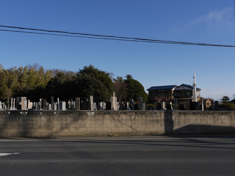 墓、墓、卒塔婆、卒塔婆、墓、墓、スカイツリー、墓、墓……