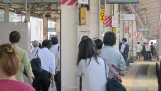 誰もまったく無関心。東京ってすばらしい。