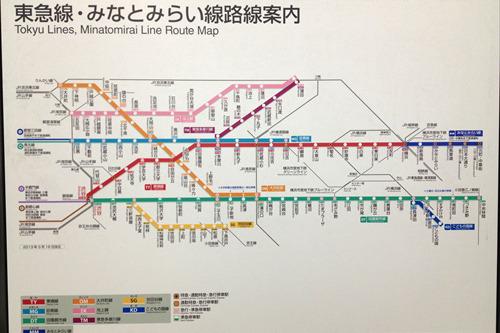 ちょっと野暮ったさが漂う東急線の路線図
