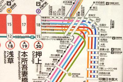 押上から先の京成電鉄? のごっちゃりぶりが素晴らしい。