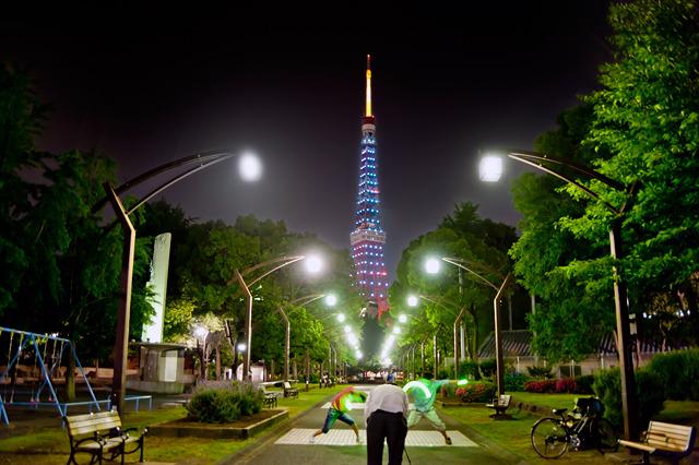 東京タワーといえばライトアップ。それを狙ってきたのだが。