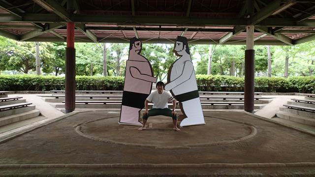 久しぶりにトントン相撲をやりました。本物の土俵で