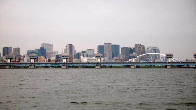 遠くから見ると、なんとなく梅田の高層ビル群を守っているような感じにも見える。