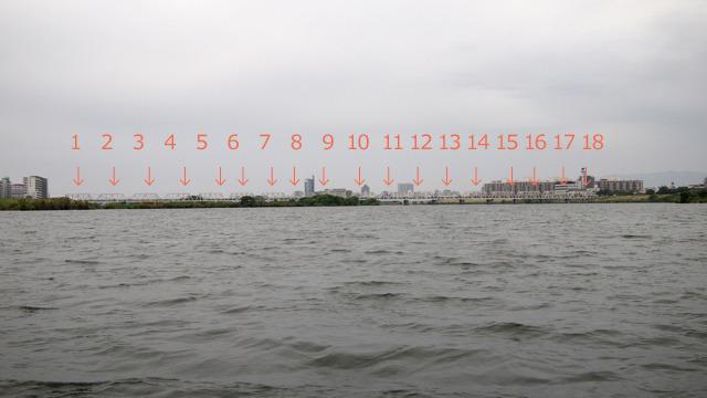 無理やり数を数えるとこうなる。トラスが18連続!!