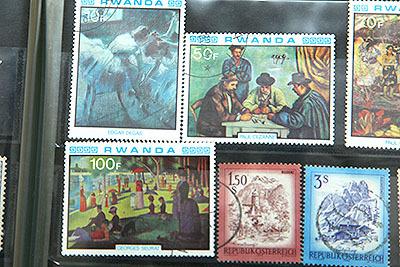 ドガとかセザンヌとか。ルワンダの切手は絵画シリーズのものが多かった。