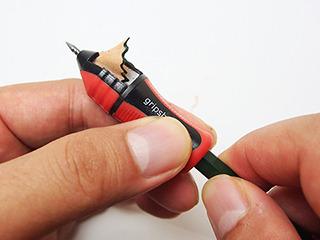 珍鉛筆削り。鉛筆に被せて使うと芯だけ出る。