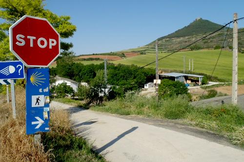 巡礼路の至る所に置かれた道標の案内板