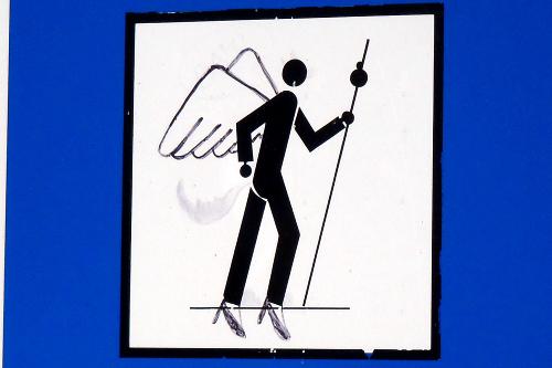 前傾姿勢が天使と親和性が高いのか