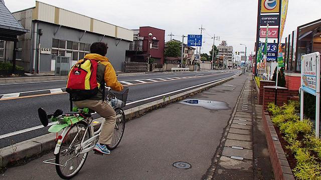 ということで、自転車で!