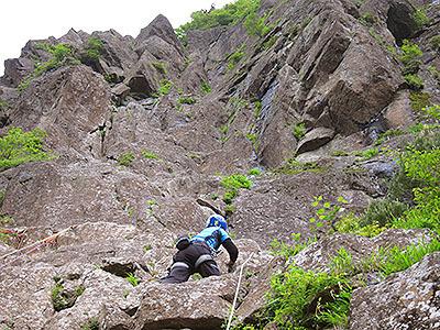 光るエリンギのことを想いながら崖を登る。