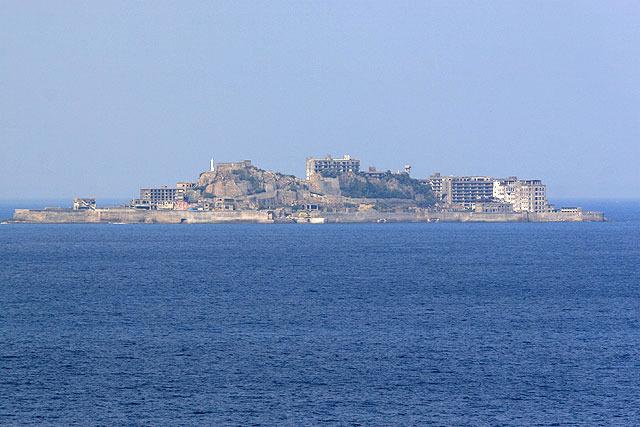軍艦島(長崎市端島)。