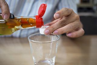 ペットボトルのキャップ1杯