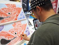 シヤチハタ印でシャチを描く試み