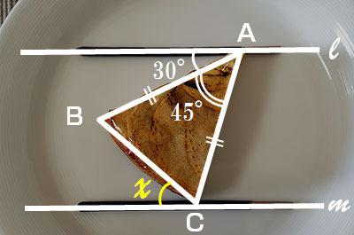 測ったらタルトが本当に45度で切られていて見事だった