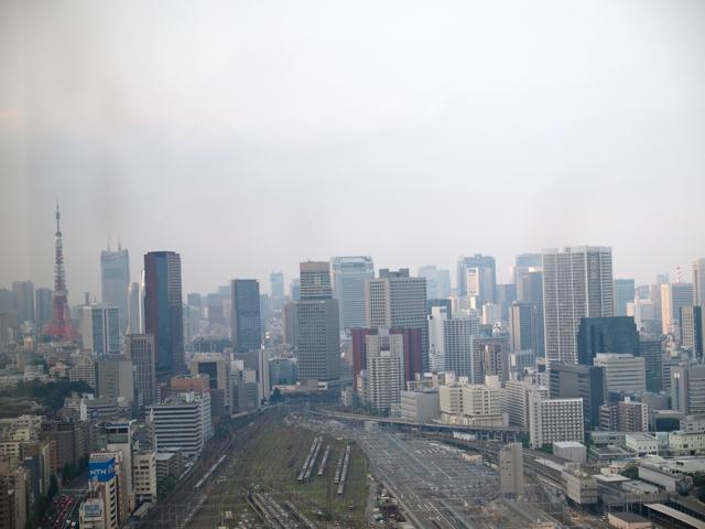 同じ場所から、現在の東京都心方面を眺める。東京タワーを隠さんばかりの高さのビルがにょきにょき。もう同じものって東京タワーぐらいしかないんじゃないのか。