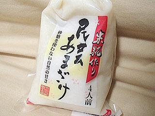 よくスーパーで売られているパック入りタイプの甘酒。