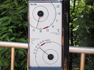 気温38℃、湿度35%(白)
